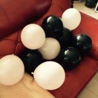 Набор праздничных надувных воздушных разноцветных шаров (шариков) из латекса 10 шт.