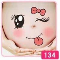 Наклейки на живот для фотосессии беременных