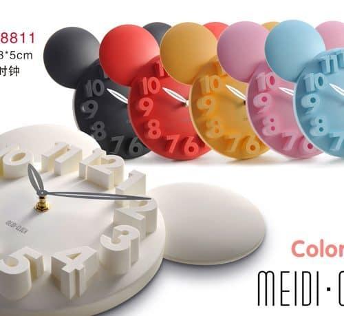 Настенные 3d (3д) часы с микки-маусом (mickey mouse), бабочками, цветами