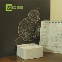 Настольная лампа 3D объемный светодиодный светильник-ночник Star Wars (Звездные войны)