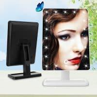 Настольное косметическое зеркало для макияжа со светодиодной подсветкой
