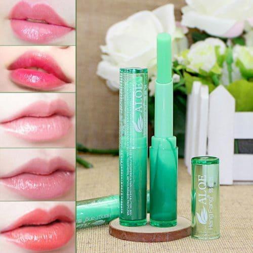 Натуральный увлажняющий бальзам для губ с алоэ вера и витамином E, гигиеническая помада