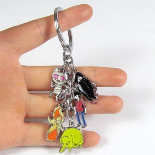 Оригинальный металлический брелок для ключей Время Приключений с Джейком и Финном