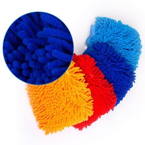 Перчатка, варежка из микрофибры для мытья автомобиля, уборки