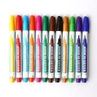 Перманентный маркер 0.5 мм на спиртовой основе для рисования по стеклу, дереву, ткани, металлу