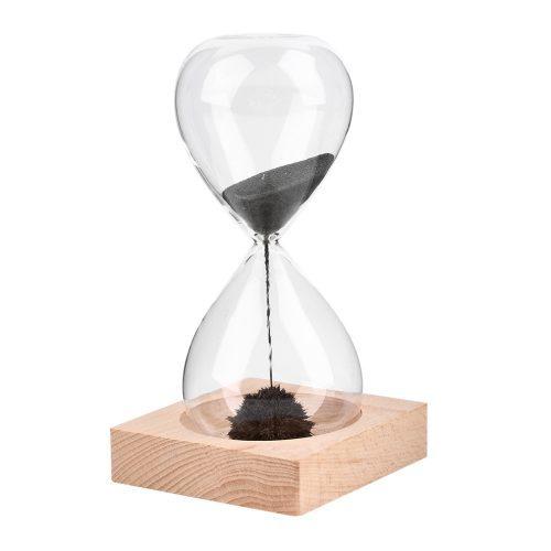 Песочные магнитные часы с металлической стружкой наполнителем