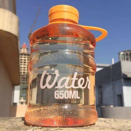 Пластиковая спортивная фитнес бутылка для воды 650 мл