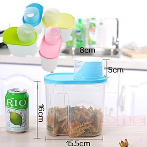 Пластиковый контейнер-диспенсер 1,9 л для хранения круп, продуктов питания, специй