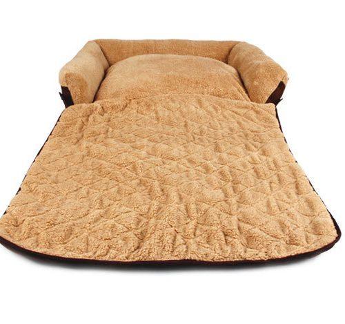 Плюшевая мягкая дешевая лежанка для собак и кошек