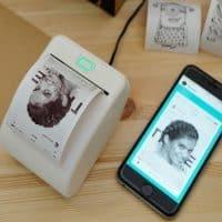 Портативный мини-принтер для печати фотографий с телефона, WiFi термопринтер Memobird