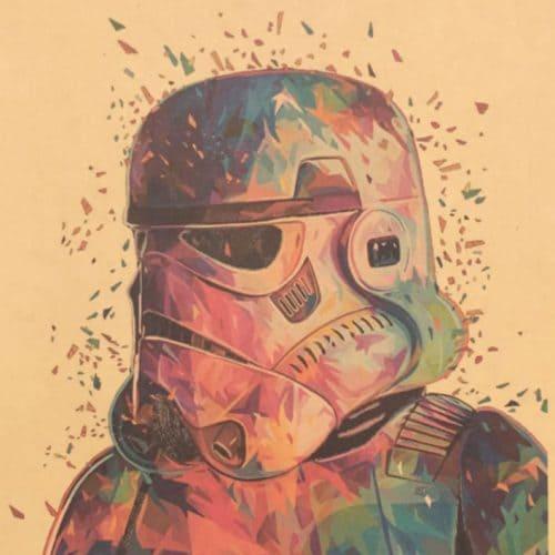 Постер Star Wars из крафт-бумаги – плакат на стену героев Звездных Войн Дарт Вейдер, Йода, Штурмовик, Дройд