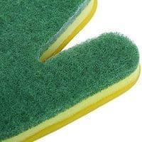Прочные резиновые (латексные) перчатки с губкой для мытья посуды