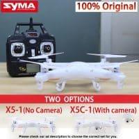 Радиоуправляемый квадрокоптер SYMA X5C-1 с камерой на пульте управления