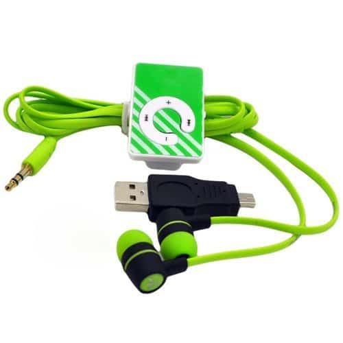 Самый дешевый портативный мини mp3 clip usb 2.0 плеер с наушниками