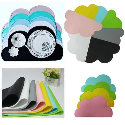 Сервировочный детский силиконовый коврик-облако на обеденный стол