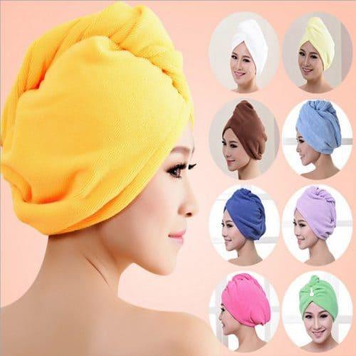 Шапочка-полотенце для сушки волос из микрофибры