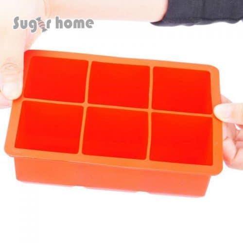 Силиконовая форма (формочка) для льда большие кубики