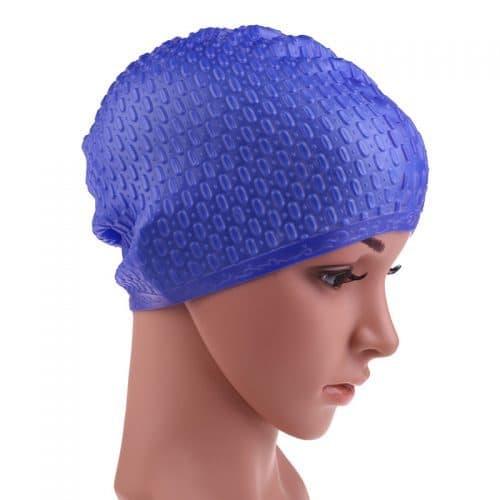 Силиконовая непромокаемая шапочка для плавания в бассейне мужская женская