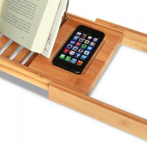 Деревянный регулируемый столик-подставка в ванную для ноутбука, чтения книг