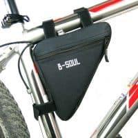 Сумка треугольник для велосипеда на раму на липучках