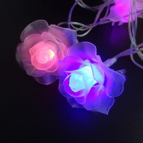 Светодиодная электрическая гирлянда в виде цветов для дома и улицы