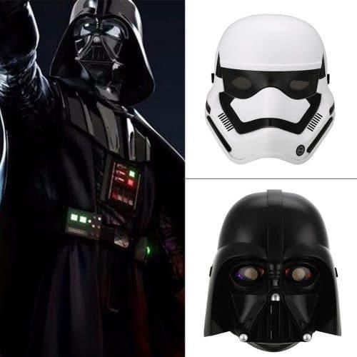 Светящаяся пластиковая детская маска Дарта Вейдера и Штурмовика из Звездных войн