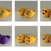 Теплые домашние тапочки в виде смайлов Emoji (Эмодзи)