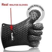 Термостойкие пятипалые силиконовые перчатки для гриля, духовки