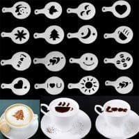 Трафареты для рисунков на кофе (для капучино) в наборе