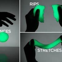 Умный флуоресцентный неоновый тесто-пластилин Handgum, светящийся в темноте