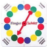 Веселая настольная игра мини Твистер для пальцев (Twister Finger)