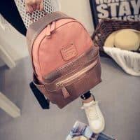 Женский рюкзак из искусственной кожи черный, белый, серый, розовый