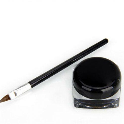 Жидкая водостойкая черная подводка для глаз с кисточкой для создания стрелок