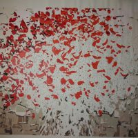 Картина-раскраска по номерам на холсте акриловыми красками Цветы