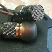 Металлические вакуумные качественные стерео наушники-гарнитура KZ-ED2