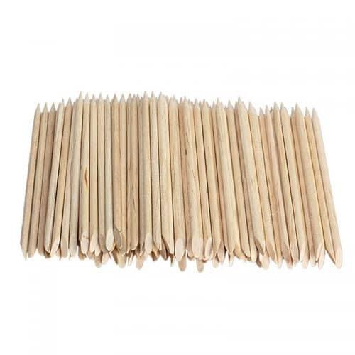 Апельсиновые деревянные палочки для маникюра ногтей, удаления кутикулы 100 шт.