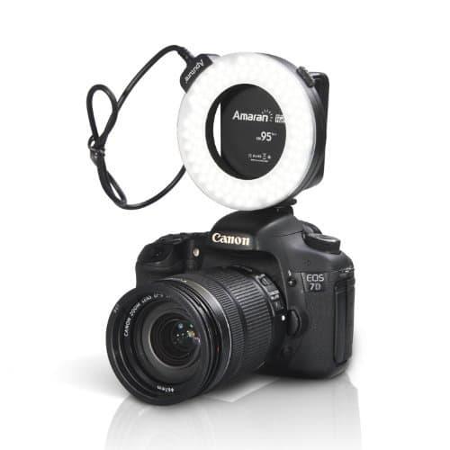 Aputure Amaran Halo AHL HC-100 светодиодная кольцевая вспышка для макросъемки для фотоаппарата Canon