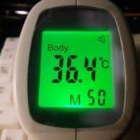 Бесконтактный инфракрасный термометр-градусник детский на лоб
