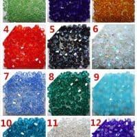 Биконусы 4 мм, стеклянные бусины для плетения браслетов, украшений, бижутерии, рукоделия, колье, декора
