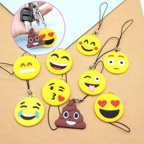 Брелок Emoji (Эмоджи) силиконовый для ключей