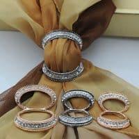 Брошь-кольцо-зажим муфта для платка, шарфа, палантина