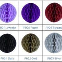 Бумажные шары-соты-помпоны для декора, украшения зала