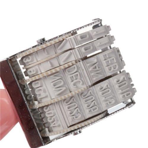 Датировщик-датер ручной, роликовый штамп (печать даты)