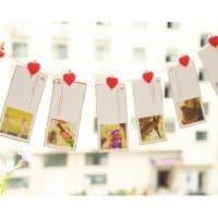 Декоративные деревянные прищепки с сердечками