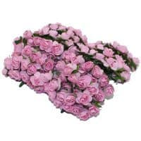 Декоративные цветы розы в наборе для скрапбукинга, кукольного домика