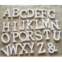 Деревянные английские объемные буквы и цифры для декора
