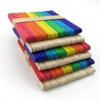 Деревянные цветные палочки для мороженого для поделок, домика
