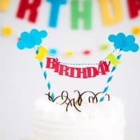 Деревянный топпер на торт С Днем Рождения (Happy Birthday), на свадьбу