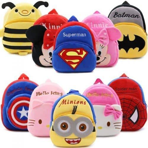 Детский плюшевый рюкзак-мягкая игрушка для малышей с героями мультфильмов