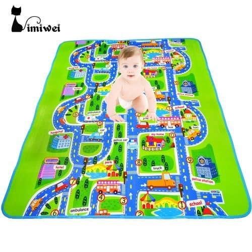 Детский развивающий коврик для игр на полу для малышей